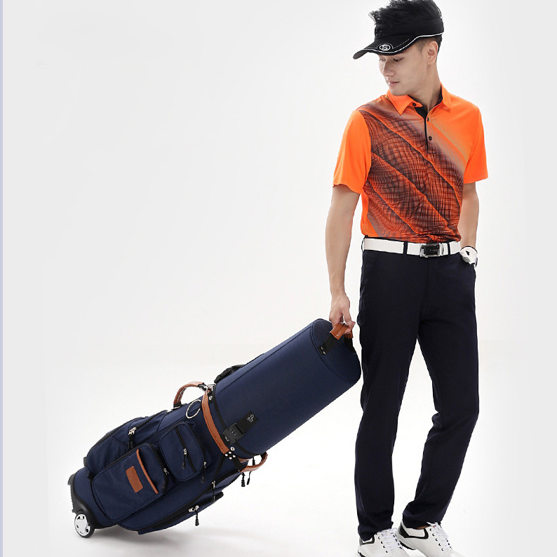 waterproof golf bag, golf club bag golf bag with wheels and Cipher lock