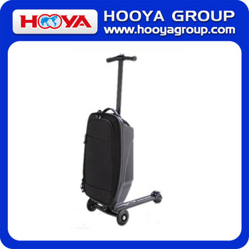 2016 hot sale scooter luggage EVA+PC trolley luggage with scooter