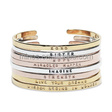engraving stainless beel cuff new designs inspirational bracelets