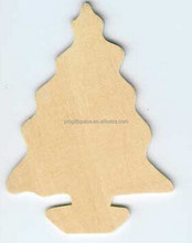 2017 new hotsale China item handmade cheap wholesale decoration outdoor plain gift crafts custom wooden christmas tree ornaments