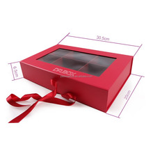 Chocolate Truffle gift box with compartments /Window Magnetic Cardboard Box