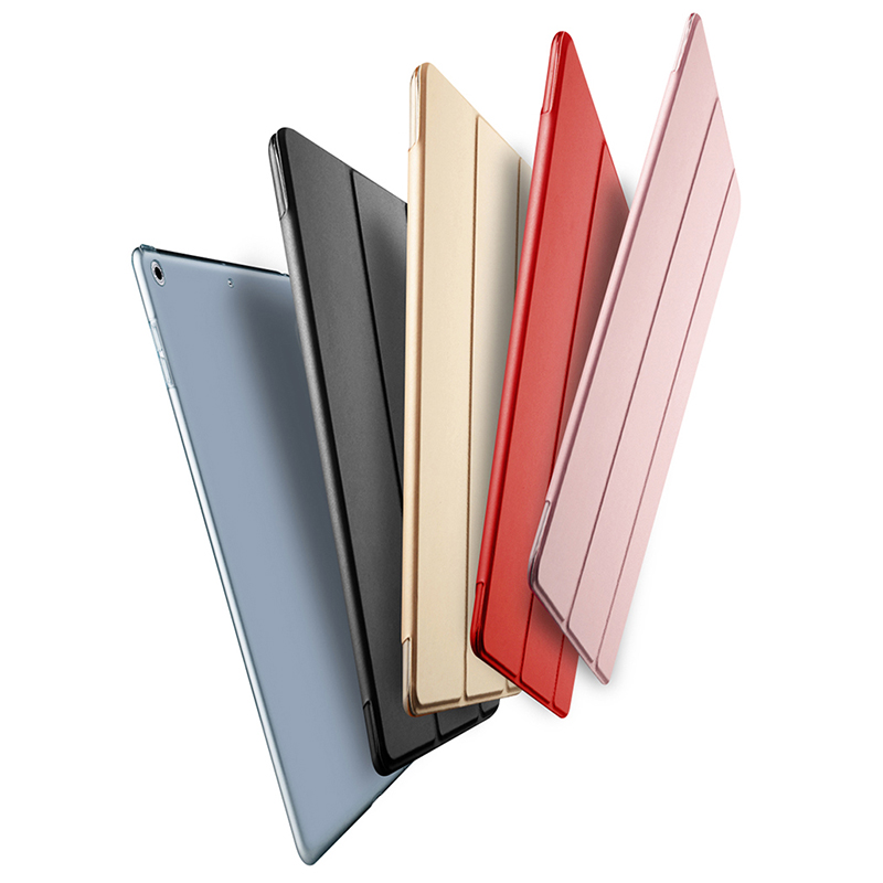 for iPad Air 2 Smart Cover Shockproof Case Trifold Stand Hard PC Back with Magnetic Auto Wake & Sleep Function for iPad Air 2