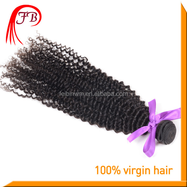 Mongolian virgin hair kinky curly/afro curl weft low luster soft and lasting accept small order kinky curl