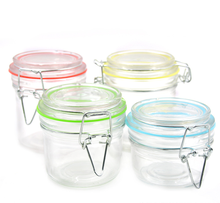 Airtight Herb Storage Glass Jar with Clip Glass Lid