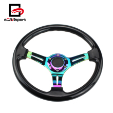ECARsport New Universal Car Racing Neo Chrome 350mm 14 ''polegadas ABS Volante
