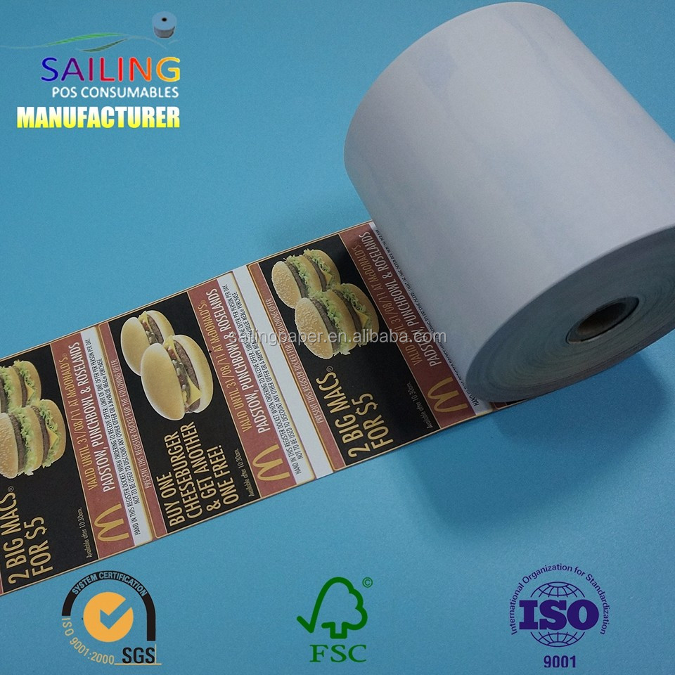 premium quality thermal paper roll with POS printer