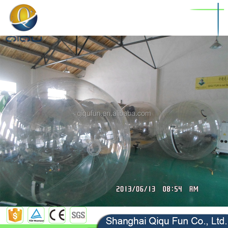 Hot sale in large inflatable toys sport transparent big size 1mm PVC inflatable roll bubble water ball walking