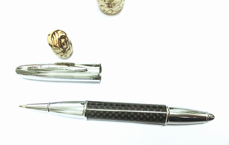 carbon fiber stationery luxury metal pen Ballpoint pen hot sale pens customize office & school supplies