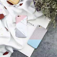 New hard pc creative mosaic color geometric pattern marble lines phone case for iphone 6/6s/6plus