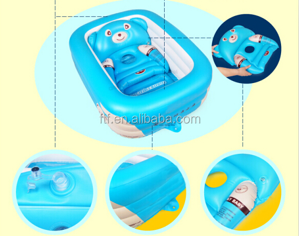 cute inflatable baby bath tub with a pad buy inflatable hot tub inflatable baby car seat kids. Black Bedroom Furniture Sets. Home Design Ideas