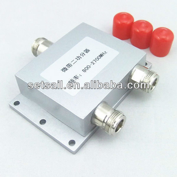 (Telecom Equipement) 800-2700MHz RF Wilkinson 2 way Power Splitter Combiner
