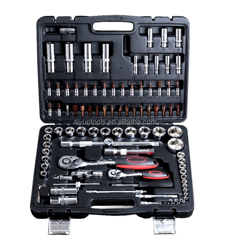 "94pcs socket <strong>set</strong> (1/2"" & 1/4"") ratchet wrench CRV auto repair tools <strong>set</strong>"