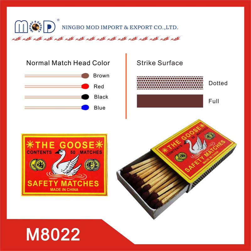 The Goose brand safety wooden match box wholesale