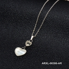 bridal jewellery shell stainless steel jewelery bone heart necklace