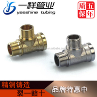 Supply Chrome Plated, Brass Equal Female male Cross Tee Four Way Pipe Fitting