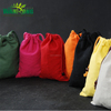Promotional wholesale prices natural fabric drawstring colored canvas bag, fashionable canvas pouch