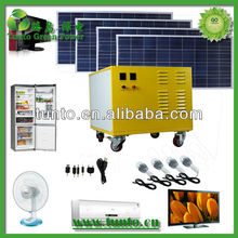 Hot Sale 600W home solar electricity generation system for africa home electricity 6V/12V/ 220V Output Lighting Kits