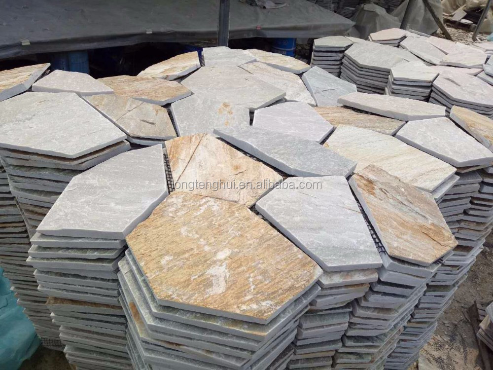 Natural Chinese multicolor slate indoor flagstone flooring