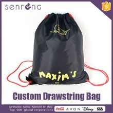 Colored Drawstring Jute Bags Cotton Drawstring Shopping Bag