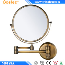 Beelee M0188A Hotel Antique Brass Magnifying Cosmetic Mirror