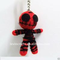 Red Ghost String Voodoo Doll Keychain