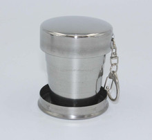 2017 Good Price 150ml stainless steel folding <strong>cup</strong> YGC-SS150