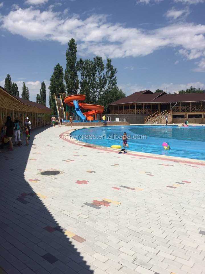 Water slides swimming pool play games