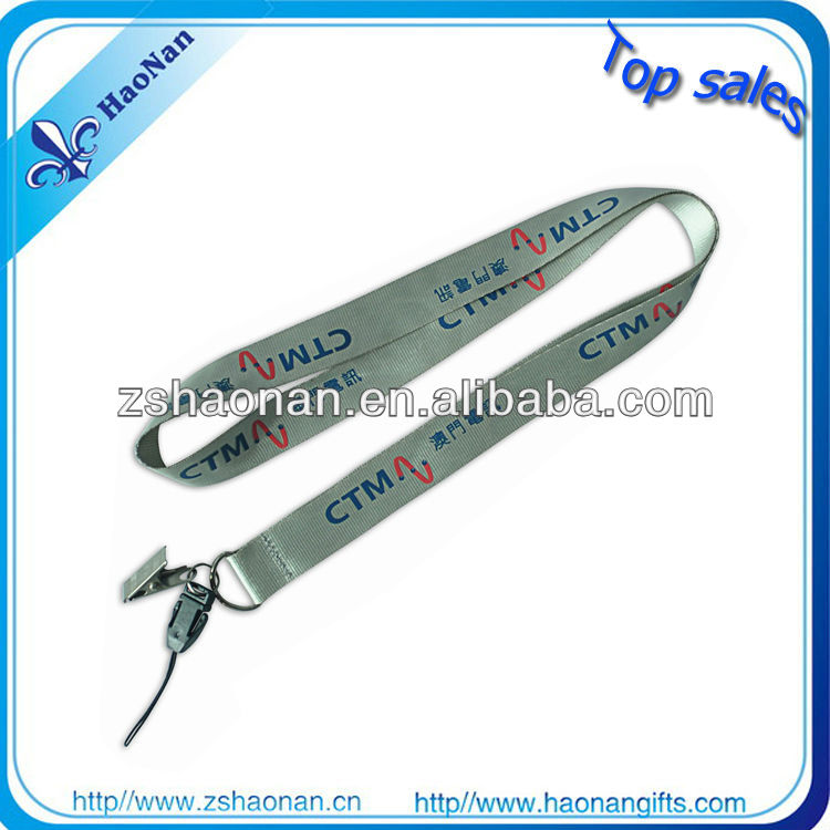 Bright Thin mp3 nylon lanyards with small detach buckle
