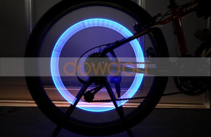 LED Bike Wheel Light Tire Valve Cap Light for Car Motorcycle