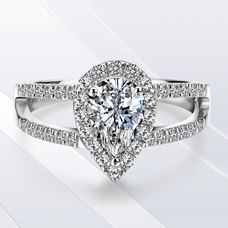 bague diamant goutte