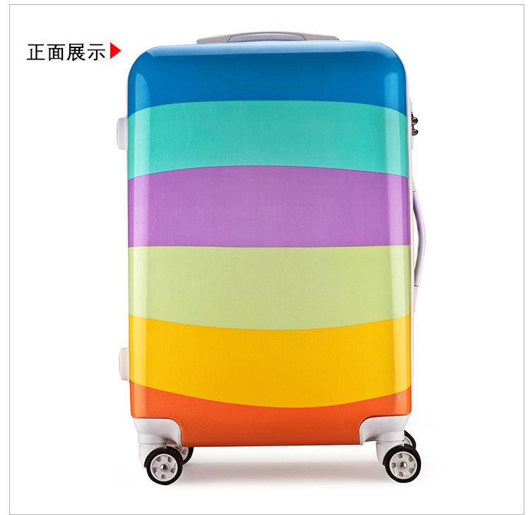 Cartoon Travel Rolling Luggage Spinner Wheels Kids Suitcase Carry On 20 24 Inch Business Airplane Trolley Luggage (21)