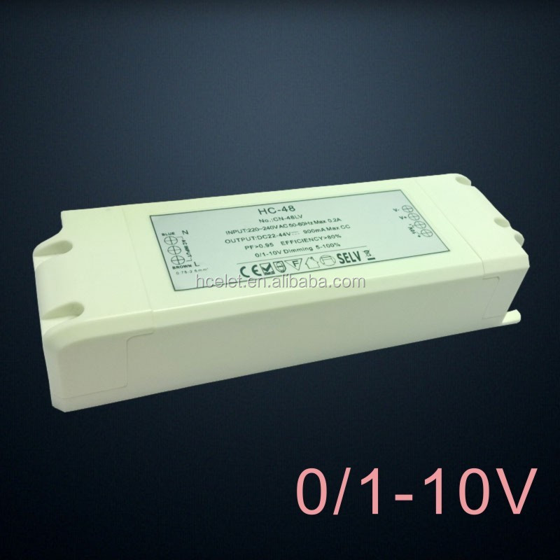 220V Input Voltage and 1 - 50W Output Power constant current 1350ma dimmable led driver
