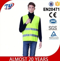yellow safety vest motorcycle with EN ISO 20471 ANSI
