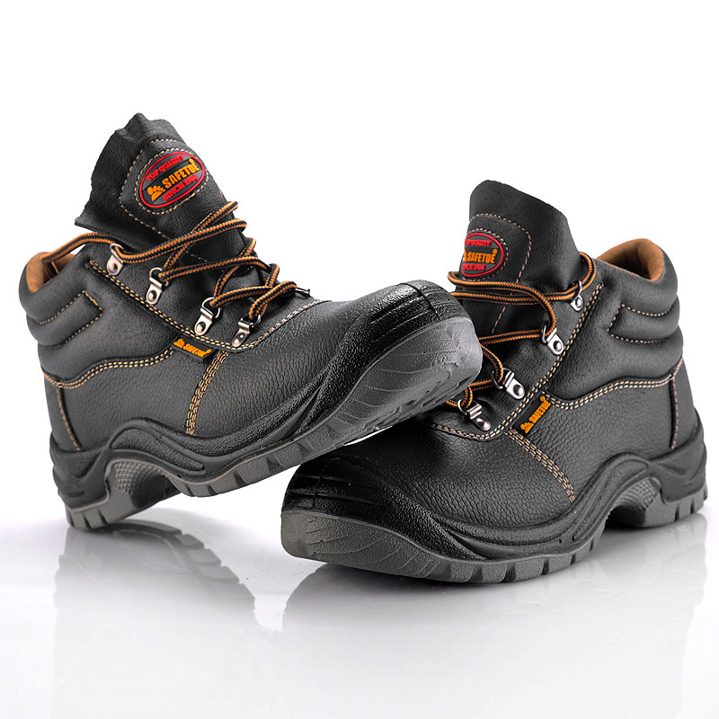 2015 2016 best selling steel toe leather safety boots