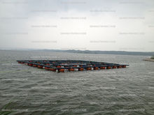 HDPE knotless floating cages farming fishes dam raising tilapia