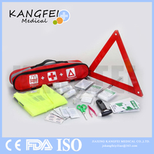 2017 New Arrival KF434 Promotional Safety Kit Nylon Fabric car emergency tool kit