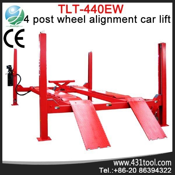 High quality and best price LAUNCH TLT440EW used auto electric motorcycle 4 post car lift for sale