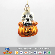 Glass crafts Christmas tree decorations pumpkin and skeleton ornaments