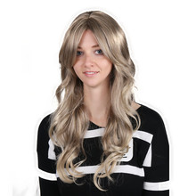 high quality long wave ormber synthetic hair front lace barrister wig afro kinky curly half wig for women