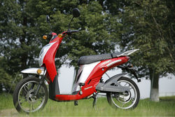 350W/500W/800W powered electric motorcycle moped with 48V front and rear disc brake