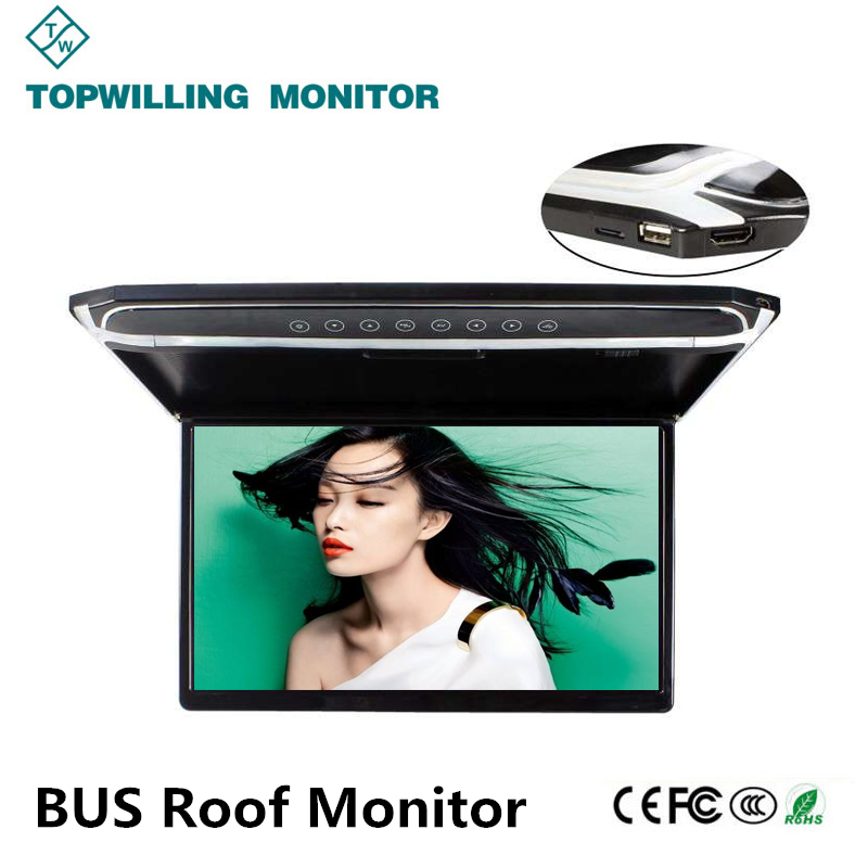 Indoor Monitor 17 inch Advertising Player BUS TV Monitor 12V