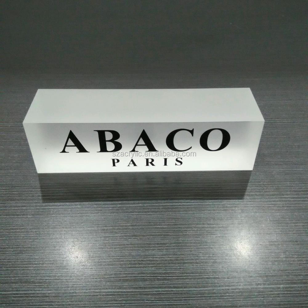 Frosted acrylic logo block acrylic logo sheet logo display rack