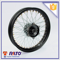 2015 New Designed Motrocycle Black Alluminum Wheel Rims, Spoke Wheels For Motorcycle