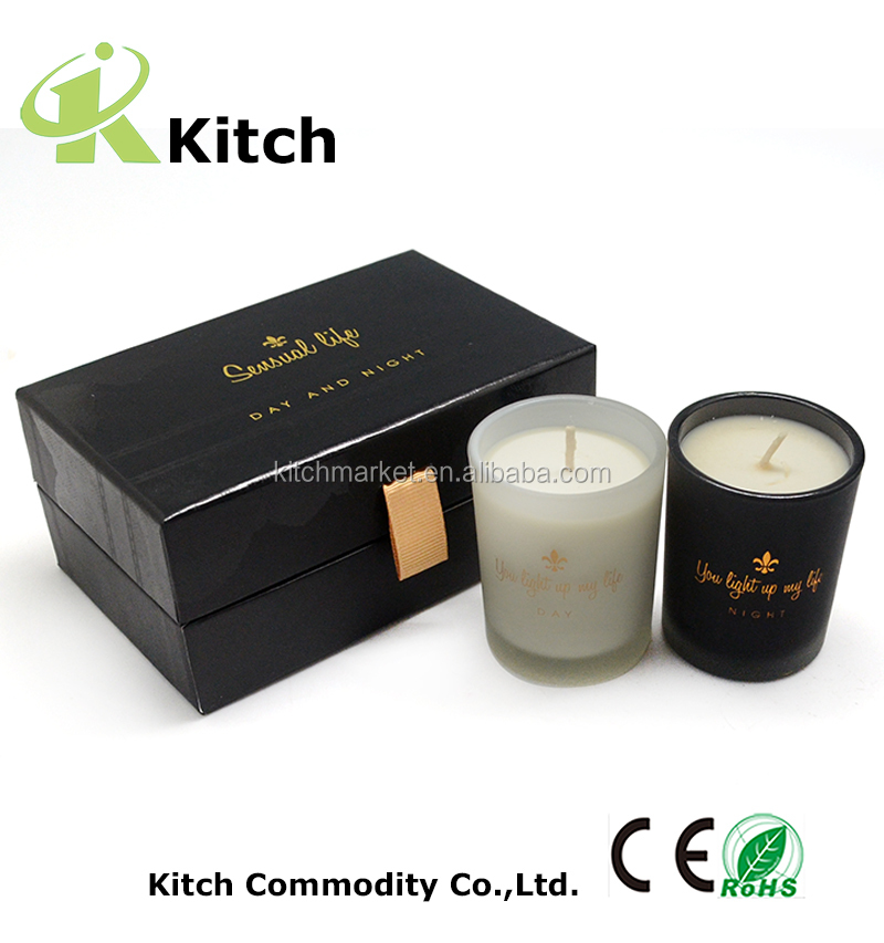 soy wax scented candles high-end box home fragrance