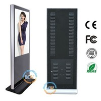 HD 46 inch lcd free standing airport advertising display stand
