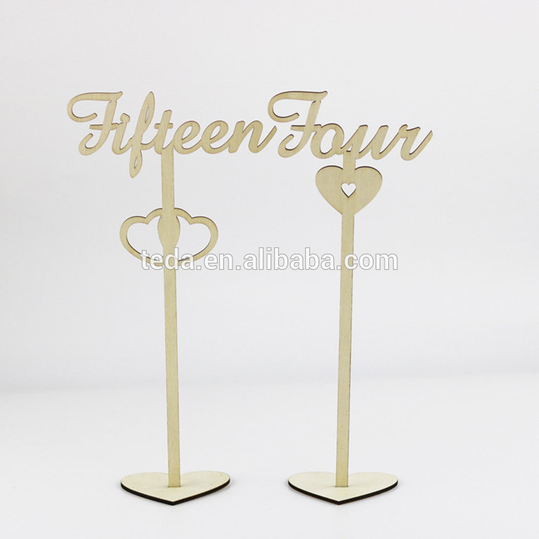 1-20 Wedding Table Numbers Stick Set with Holder Base for Wedding Home Decoration
