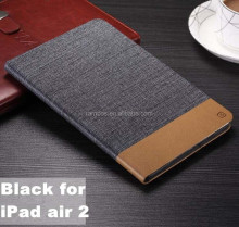 Jean style leather case with card slot Custom printed case for IPAD