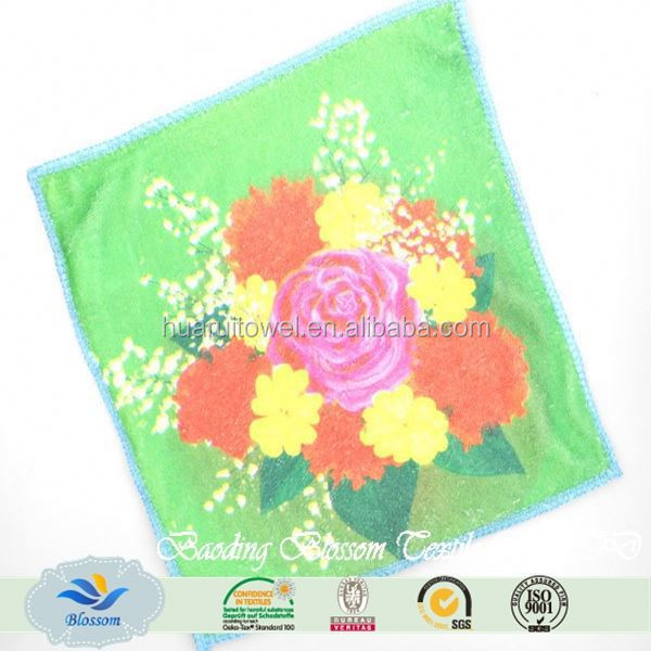Blossom 100% cotton high quality terry embroidery lace luxury wedding promotional gift towel