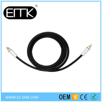 2M/6 FT Digital Fiber Optical Optic Audio TosLink Cable SPDIF MD DVD Gold Lead For CD HDVD Digital TV Set-top Boxes