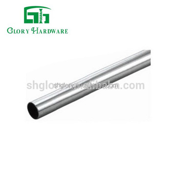 2018 Chrome Steel Wardrobe Tube, Round/Oval Wardrobe Pipe